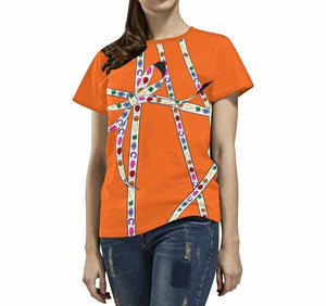 Lucky Charm Ribbon T-Shirt (Neon Orange)