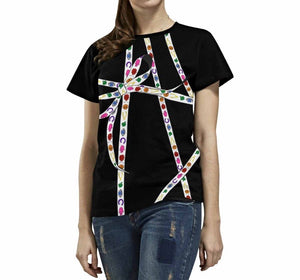 Lucky Charm Ribbon T-Shirt (Black)