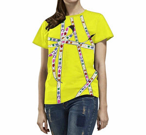Lucky Charm Ribbon T-Shirt (Neon Yellow)