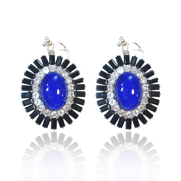 Lapis with Quartz, White Topaz and Black Spinel