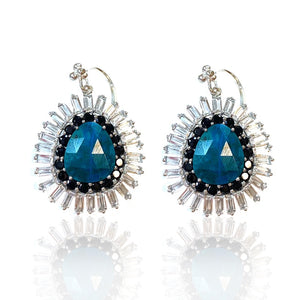 Chrysocolla, Black Spinel and White Topaz