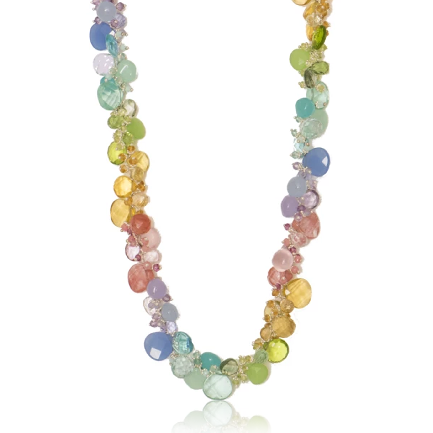 Pastel Classic Large Jellybean Necklace (Sterling Silver)
