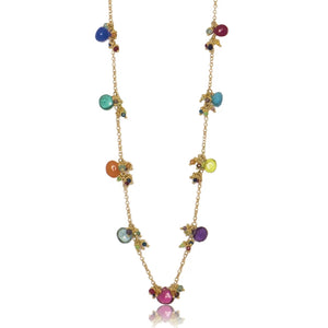 Short Linked Classic Jellybean Necklace