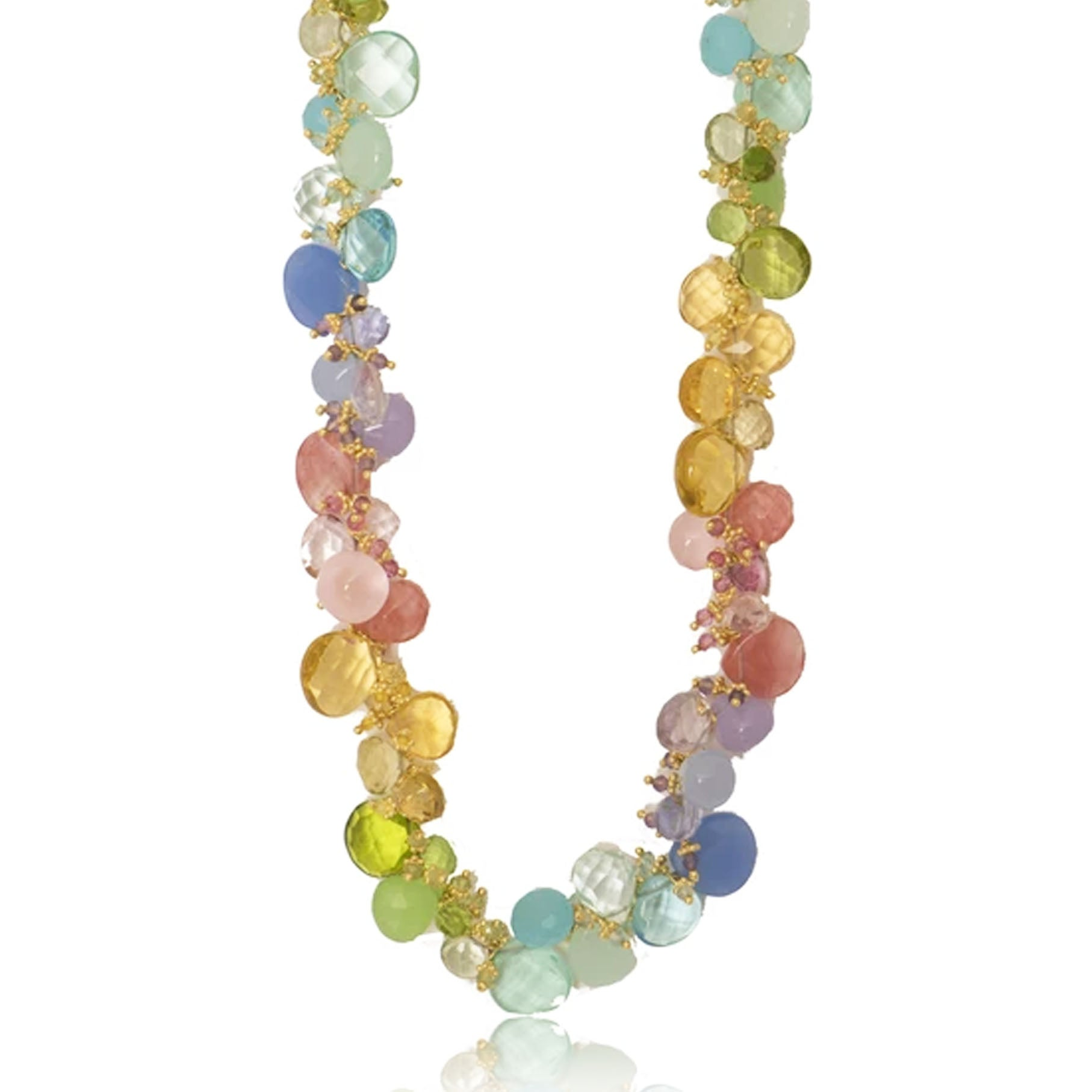 Pastel Classic Large Jellybean Necklace (GP)