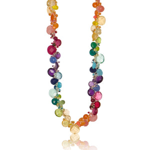 Rainbow Classic Large Jellybean Necklace (Sterling Silver)