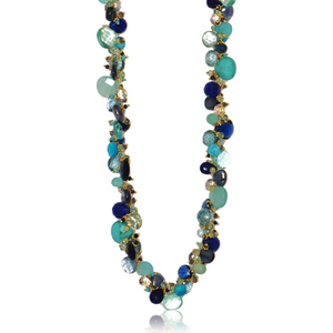 Blues Classic Large Jellybean Necklace