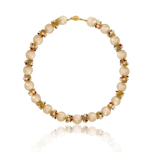 Baroque Freshwater Pearl Necklace with Rainbow Clusters