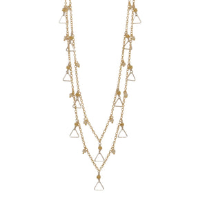 Double Chain Sparkler with Clusters + Triangle Dangles