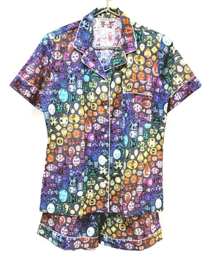 Rainbow Gem Pajamas Cotton - Grey