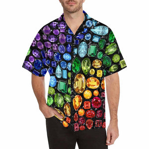 Gemstone Hawaiian Shirt (Black)