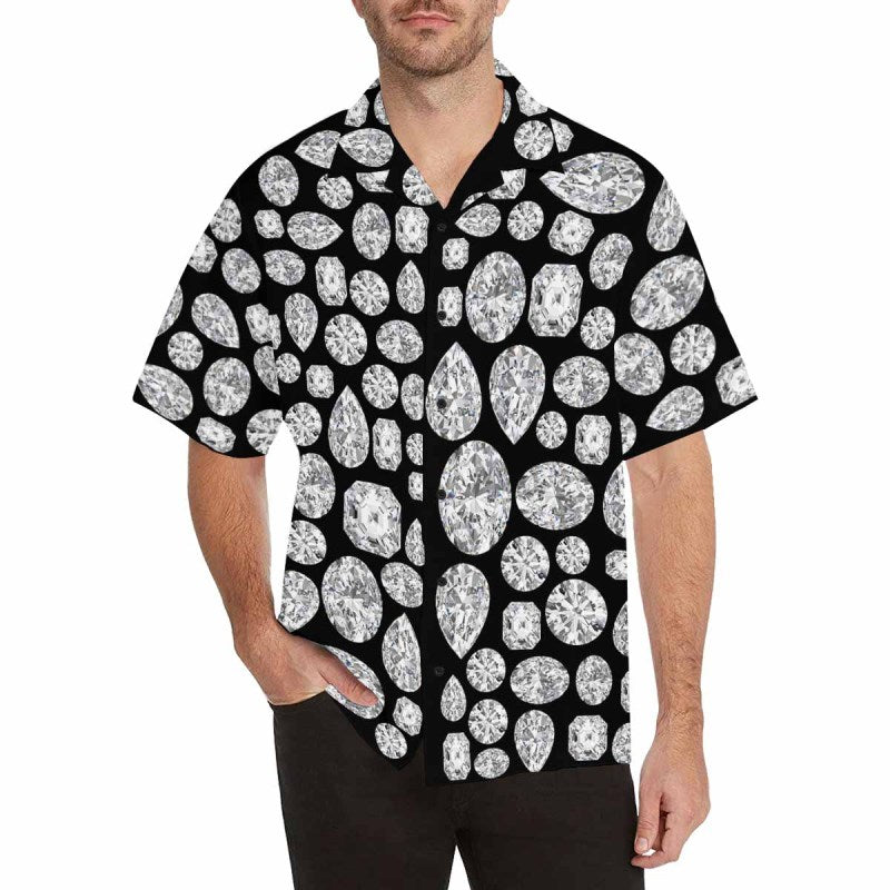 Diamond Hawaiian Shirt (Black)
