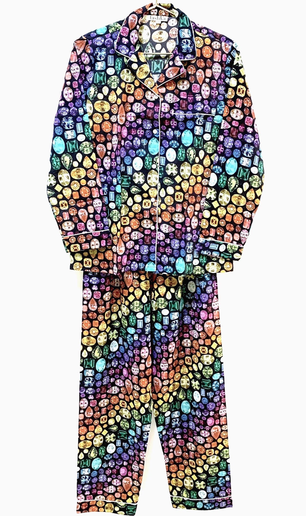 NEW-Rainbow Gem Pajamas Cotton- Black