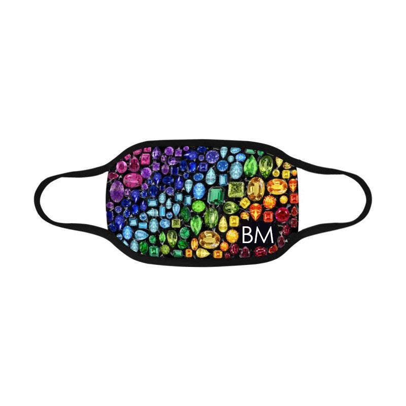 CUSTOMIZABLE 🌈 Gem Face Mask (Black)