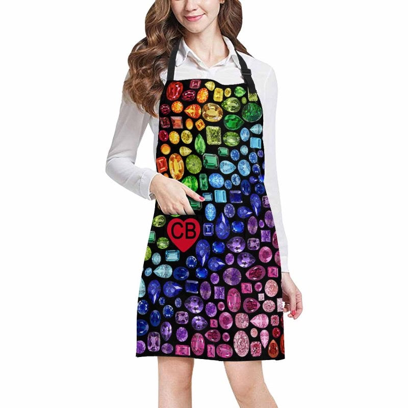 "CUSTOMIZABLE ""Gemstone"" Apron (Black)"