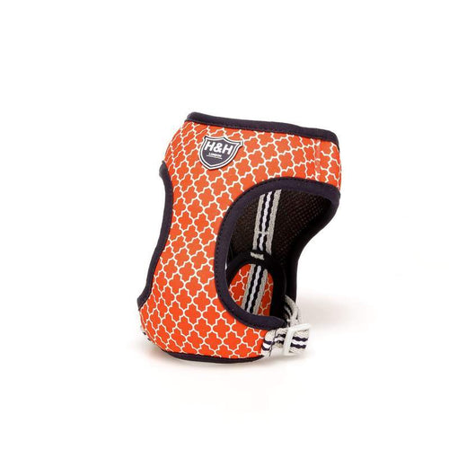 Orange Geometric  Harness vest harness