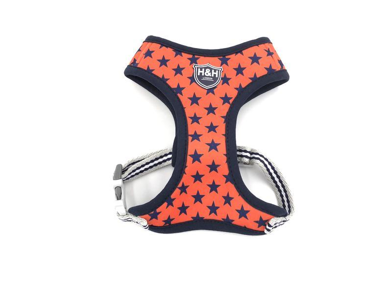 Navy Orange Star vest harness