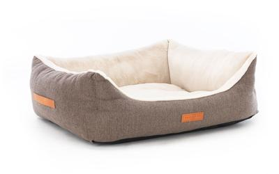 Herringbone Tweed Dog Bed - Lincoln Nest