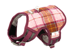 Pink Harris Tweed Harness vest harness