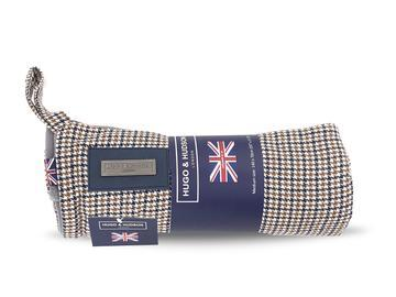 Hugo & Hudson Navy & Brown Tweed Dog Blanket