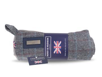 Hugo & Hudson Grey Check Tweed Dog Blanket