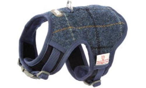 Blue Harris Tweed Harness vest harness