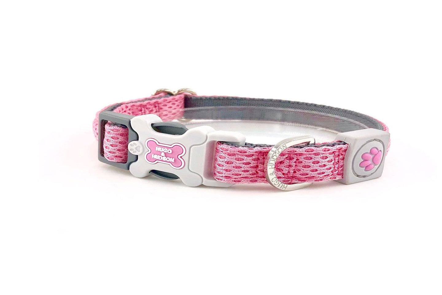Breathable Mesh Dog Leash & Collar - Pink Mesh Collar & Lead Combination
