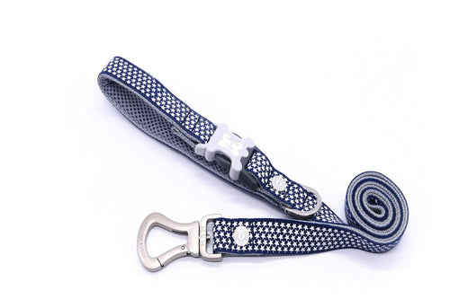 Breathable Mesh Dog Leash - Hugo & Hudson Blue Star Easy Attachable Dog Lead