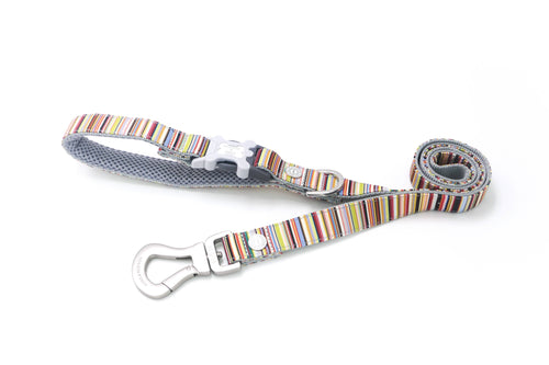 Breathable Mesh Dog Leash - Hugo & Hudson Multi Stripe Easy Attachable DogLlead