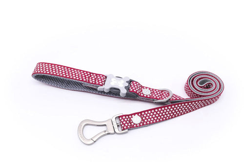 Breathable Mesh Dog Leash - Hugo & Hudson Red Star Easy Attachable Dog Lead