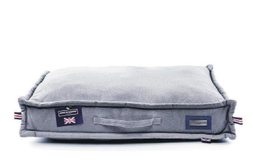 Hugo & Hudson Grey Canvas Pillow Bed