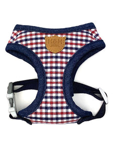 Harness - Hugo & Hudson Blue & Red Check Vest Harness
