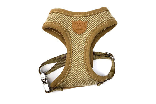 Harness - Hugo & Hudson Brown Tweed Vest Harness