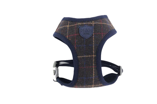 Harness - Hugo & Hudson Dark Green Tweed Vest Harness