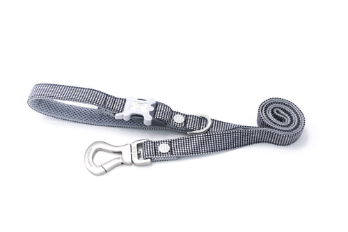Hugo & Hudson Bone Clasp Collar - Hugo & Hudson Black Dogtooth Easy Attachable Dog Lead