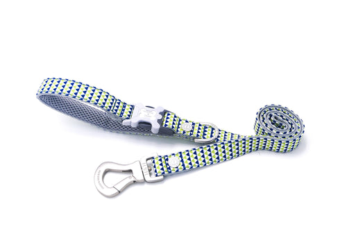 Hugo & Hudson Bone Clasp Collar - Hugo & Hudson Green Geometric Easy Attachable DogLlead