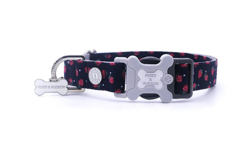 Hugo & Hudson Bone Clasp Collar - Hugo & Hudson Navy & Strawberry Bone Clasp Collar