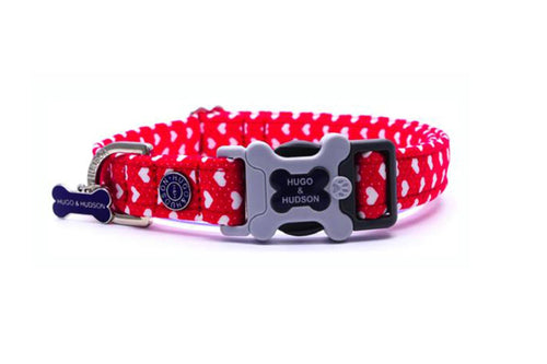 Hugo & Hudson Bone Clasp Collar - Hugo & Hudson Red Heart Bone Clasp Collar