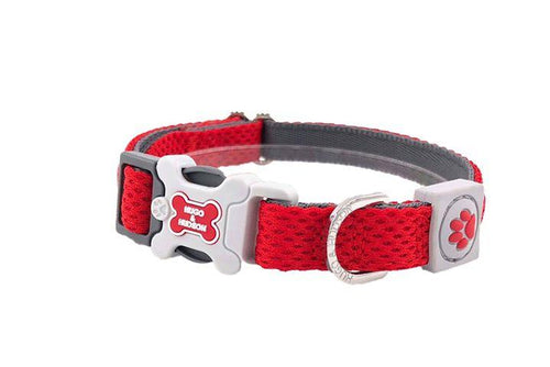 Hugo & Hudson Bone Clasp Collar - Hugo & Hudson Red Mesh Plastic Bone Collar