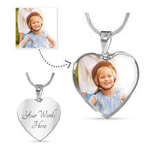 Load image into Gallery viewer, Jewellery - Pet Photo Heart Shaped Pendant