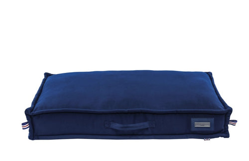 Hugo & Hudson Navy Canvas Pillow Bed
