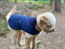 Load image into Gallery viewer, Woof & Co Navy Blue Water Resistant Jacket