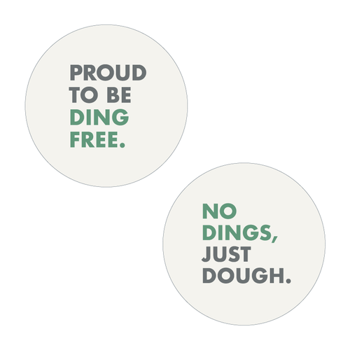 Ding Free - Button (25-pack)