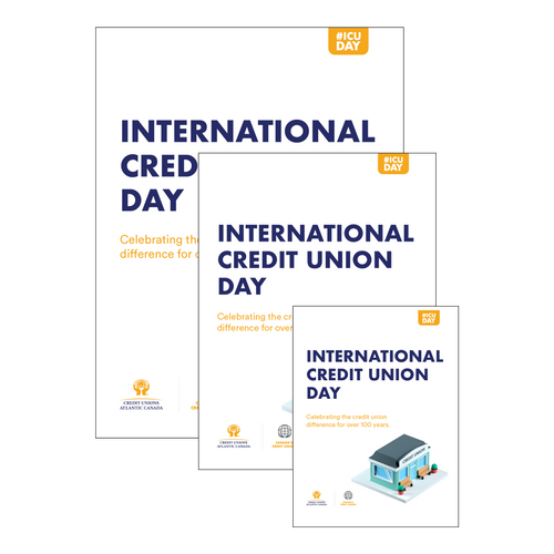 International Credit Union Day - Print Ready Posters - Atlantic