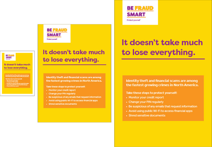 Fraud Smart - Print-Ready Posters
