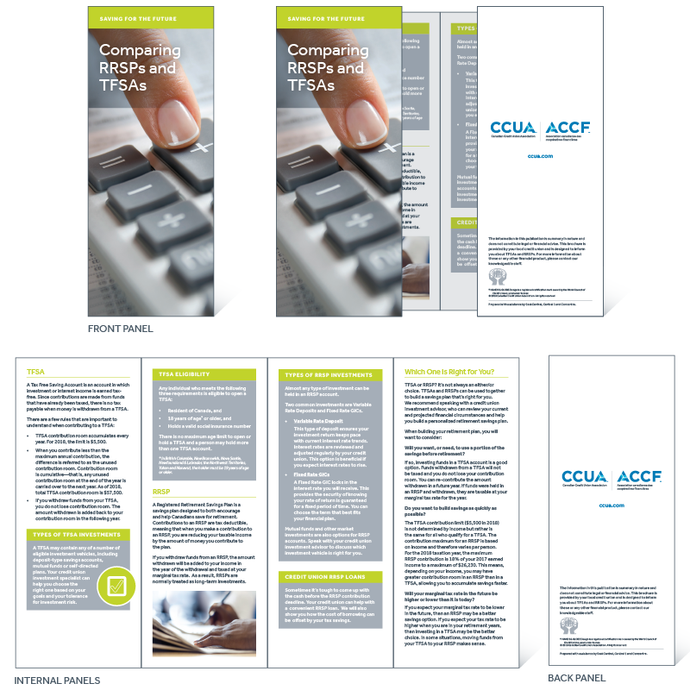 Comparing RRSPs & TFSAs - Print-Ready Leaflet