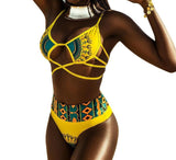Bold Tribal Print Bathing Suit