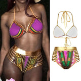 African Geometric Print Swimsuit