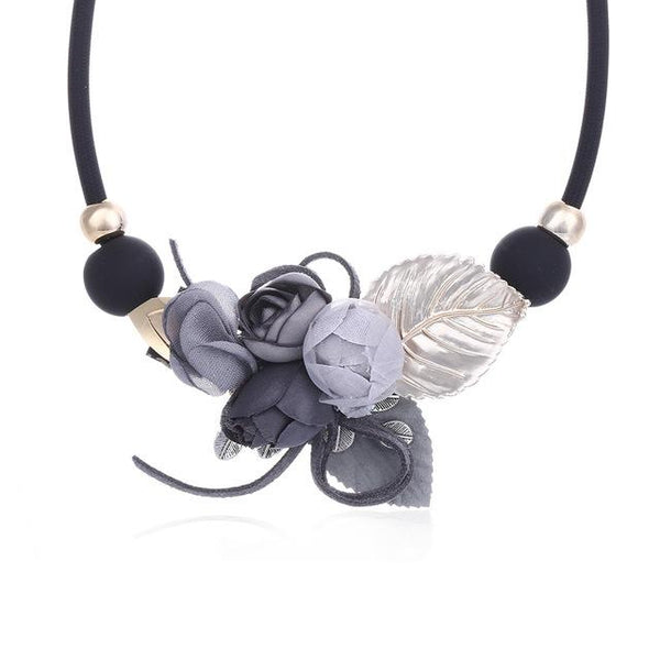 Flower and Leaf Choker Necklace