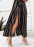 Striped Wide Leg Summer Pants