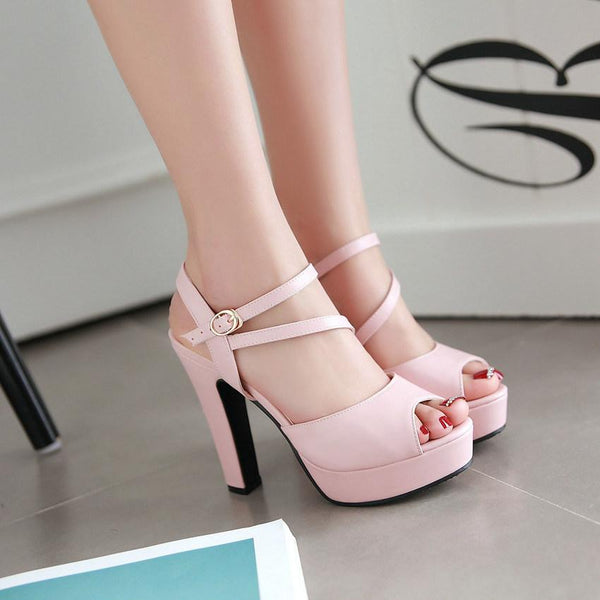 High, Ankle Strap Heels